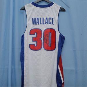 Detroit Pistons Rasheed Wallace Signed Jersey